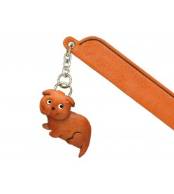 Scottish fold Leather Charm Bookmarker