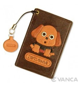 Dog Leather Commuter Pass case/card Holders #26404