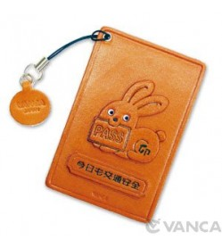 Zodiac/Rabbit Leather Commuter Pass/Passcard Holders