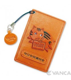 Zodiac/Wild Boar Leather Commuter Pass/Passcard Holders
