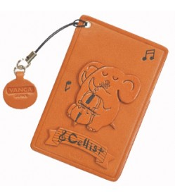 Elephant with Cello Leather Commuter Pass case/card Holders #26428