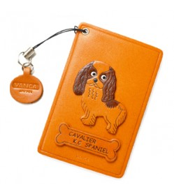 Cavalier kc Spaniel Leather Commuter Pass case/card Holders #26447