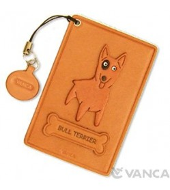 Bull Terrier Leather Commuter Pass case/card Holders #26445