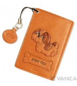 Shih Tzu Leather Commuter Pass/Passcard Holders