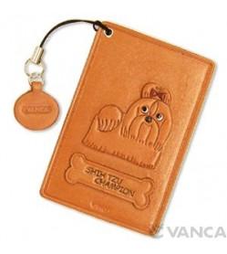Shih Tzu Champion Dog Leather Commuter Pass/Passcard Holders