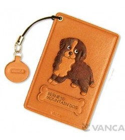 Bernese Mountain Dog Leather Commuter Pass case/card Holders #26444