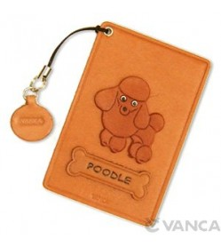 Poodle Leather Commuter Pass/Passcard Holders