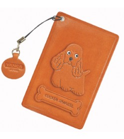 Cocker Spaniel Leather Commuter Pass case/card Holders #26449