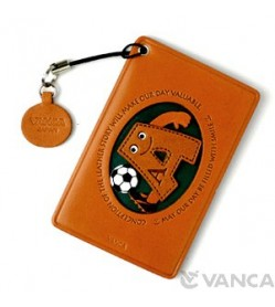 Soccer-A Leather Commuter Pass/Passcard Holders