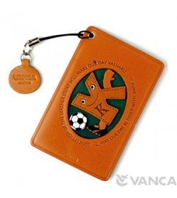 Soccer-K Leather Commuter Pass/Passcard Holders