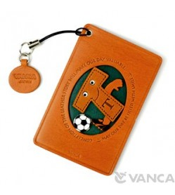 Soccer-T Leather Commuter Pass/Passcard Holders