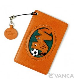 Soccer-W Leather Commuter Pass/Passcard Holders