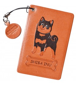 Shiba Black&Tan Leather Commuter Pass/Passcard Holders