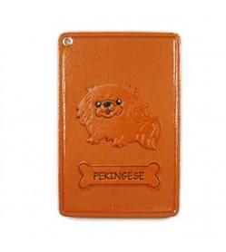 Pekingese Leather Commuter Pass/Passcard Holders