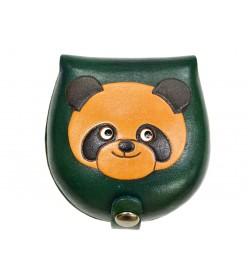 Panda-green Handmade Genuine Leather Animal Color Coin case/Purse #26088-3