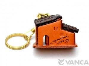 Spanish House Leather Keychain(L)