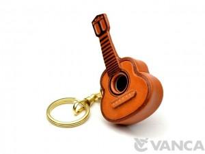 Guitar Leather Keychain(L)