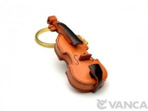Violin Leather Keychain(L)