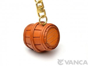Barrel Leather Keychain(L)