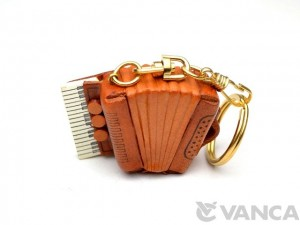 Accordion Leather Keychain(L)