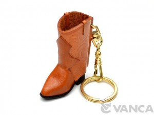 Western Boot Leather Keychain(L)
