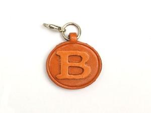 B Leather Alphabet Plate