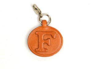 F Leather Alphabet Plate
