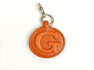G Leather Alphabet Plate