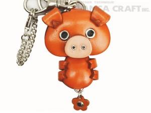 Pig Handmade Leather Animal/Bag Charm
