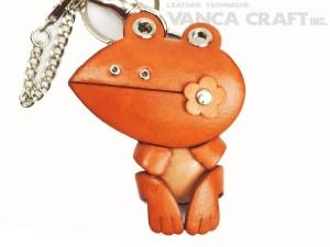 Frog Handmade Leather Animal/Bag Charm