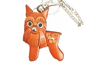 Schnauzer Handmade Leather Dog/Bag Charm