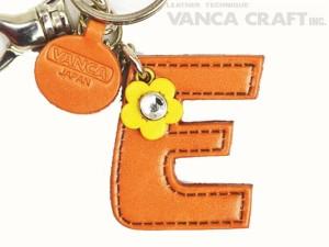 "Initial  ""E"" Leather Keychain Bag Charm"