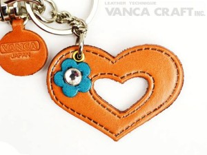 "Symbols  ""Heart"" Leather Keychain Bag Charm"