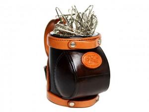 Leather Desk Clip Holder Golfbag #26187