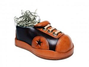 Leather Desk Clip Holder Sneaker #26189