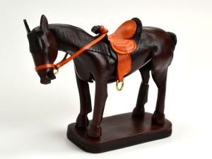 Leather Ornament Horse:Black