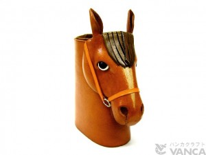 Horse Head Camel Brown Handmade Leather Eyeglasses Holder/Stand #26208