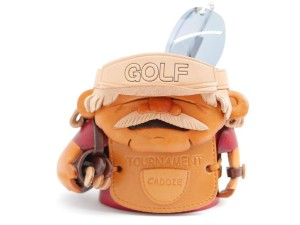 Golf Caddy Handmade Leather Eyeglasses Holder/Stand #26225