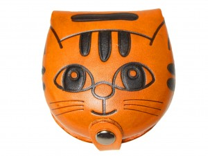 Cat Handmade Genuine Leather Animal Coin case/Purse #26271