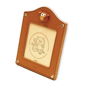 Pig Leather Square Picture Frame #26154
