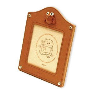 Frog Leather Square Picture Frame #26155