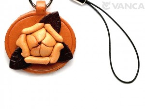 Rose Leather Flower Cellularphone Charm