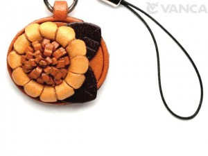 Sunflower Leather Cellularphone Charm