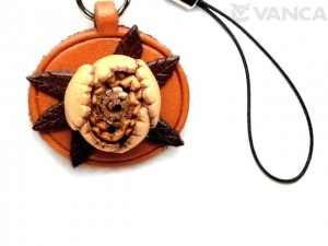 Peony Leather Flower Cellularphone Charm