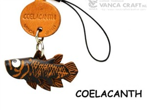 Coelacanth Japanese Leather Cellularphone Charm Fish