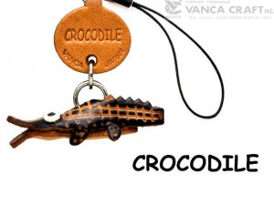 Crocodile Japanese Leather Cellularphone Charm Fish