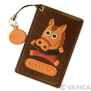 Horse Leather Commuter Pass/Passcard Holders
