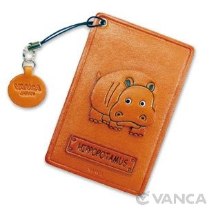 Hippopotamus Leather Commuter Pass/Passcard Holders