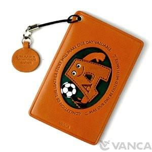 Soccer-A Leather Commuter Pass/Passcard Holders