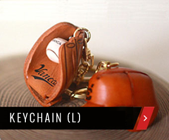 Handmade unique leather keychain from Japan-VANCA CRAFT